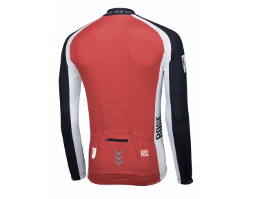 ROSE LINIE 14 Langarm Trikot (Thermo) black/red