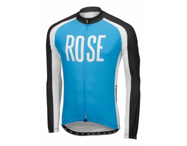 ROSE LINIE 14 Langarm Trikot (Thermo) black/sky