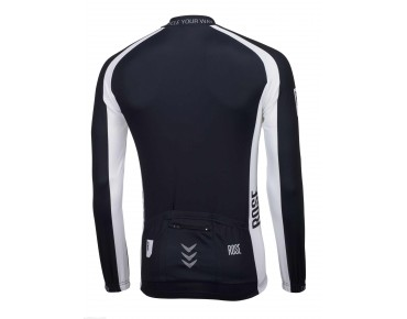 ROSE LINIE 14 Langarm Trikot (Thermo) black/white