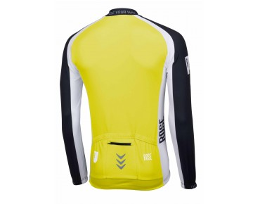 ROSE LINIE 14 Langarm Trikot (Thermo) black/lime