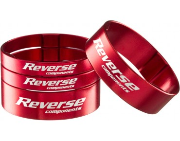 Reverse Alloy ultra-light spacer set red