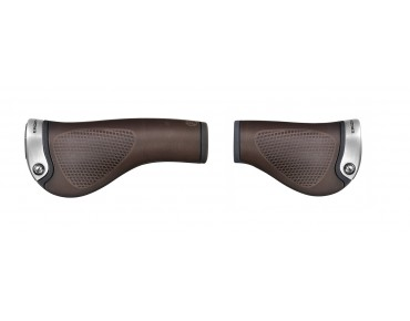 ERGON GP1 BioLeder grips for Rohloff®/Nexus® twist shifters brown