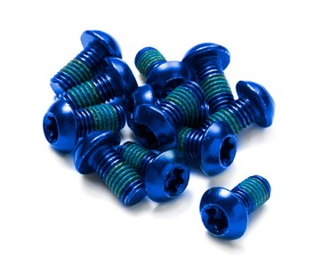 Reverse fixing bolt set blue