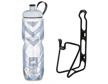 ROSE Echt Cool 700ml thermal bottle + ergotec bottle cage set