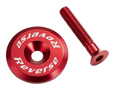 Reverse headset cap incl. bolt red