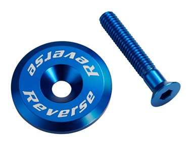 Reverse headset cap incl. bolt dark blue