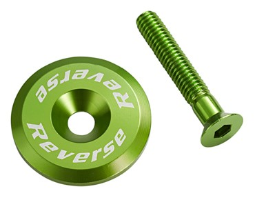 Reverse headset cap incl. bolt green