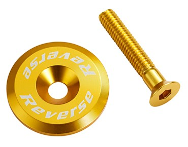 Reverse headset cap incl. bolt gold