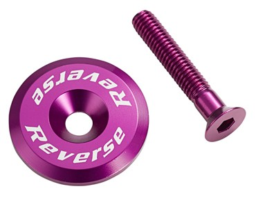 Reverse headset cap incl. bolt purple