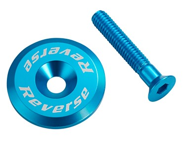 Reverse headset cap incl. bolt blue