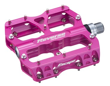 Reverse Escape pedals candy red