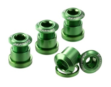 Reverse chainring bolts set of four green