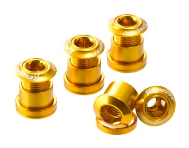 Reverse chainring bolts set of four gold