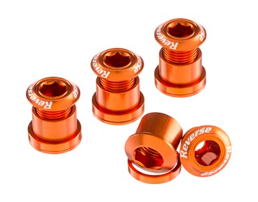 Reverse chainring bolts set of four orange