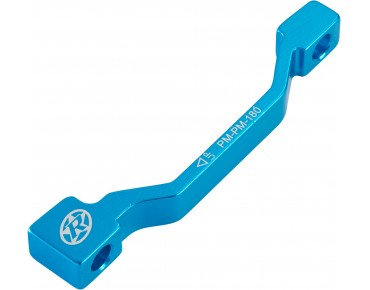 Reverse disc brake adapter PM-PM blau