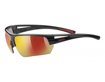 uvex Sportbrille GRAVIC (Set) black mat red