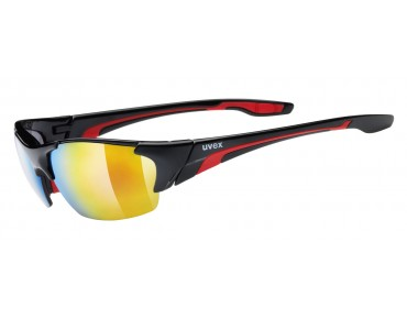 uvex BLAZE III glasses black red/mirror red