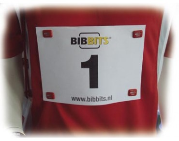 BibBits Magnetic bib number holder white