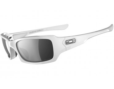 OAKLEY FIVES SQUARED Sportbrille polished white/black iridium polarized