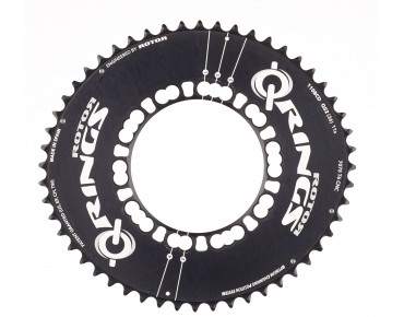 Rotor Q-Rings Aero 52-tooth chainring schwarz