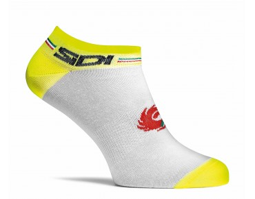 SIDI FLUO Socken white/yellow fluo
