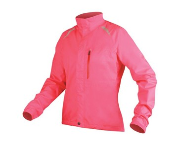 GRIDLOCK II women's waterproof jacket hi-viz pink