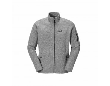 Jack Wolfskin CARIBOU LODGE Fleece Jacke light grey