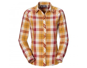Jack Wolfskin SOUTH RIVER Damen-Bluse golden yellow checks