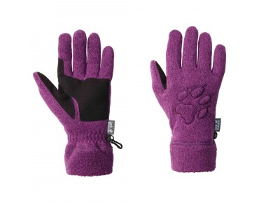 Jack Wolfskin CARIBOU women's fleece gloves mallow purple