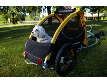 Burley TAIL WAGON bicycle trailer for dogs gelb