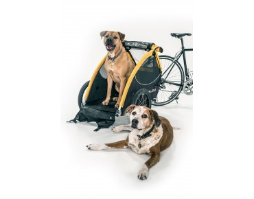 Burley TAIL WAGON bicycle trailer for dogs yellow