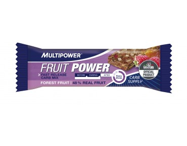 Multipower FRUIT POWER BAR baies sauvages : mûre, framboise & datte