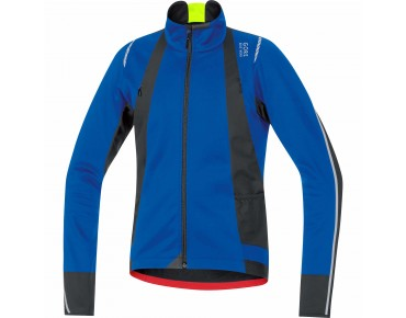 GORE BIKE WEAR OXYGEN WINDSTOPPER soft shell jacket brillant blue/black