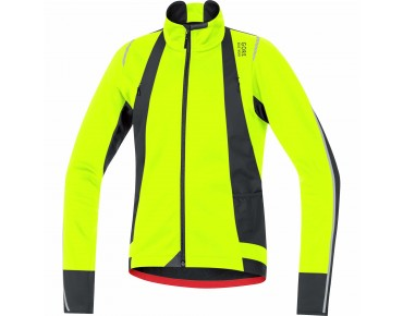 GORE BIKE WEAR OXYGEN WINDSTOPPER soft shell jacket neon yellow/black