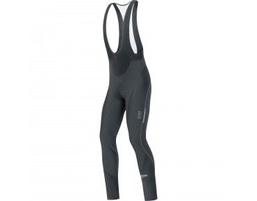 GORE BIKE WEAR OXYGEN WINDSTOPPER softshell bib tights+ black