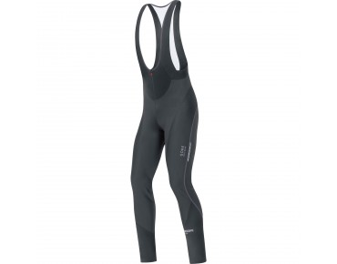 GORE BIKE WEAR OXYGEN WINDSTOPPER soft shell bib tights without seat pad black