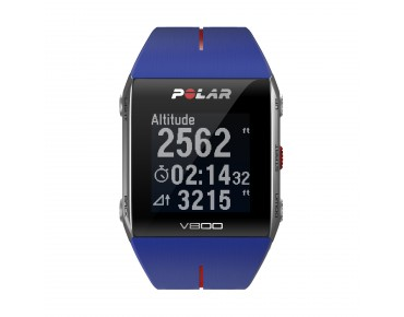 Polar V800 HR sports watch blue/red
