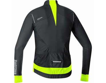 GORE BIKE WEAR OXYGEN WINDSTOPPER jersey met lange mouwen black/neon yellow