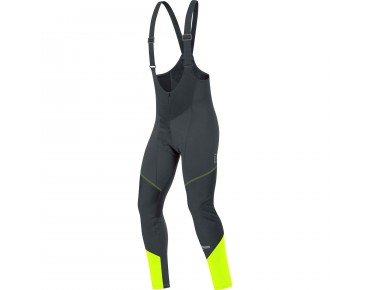GORE BIKE WEAR ELEMENT WINDSTOPPER SOFTSHELL bib tights+ black/neon yellow