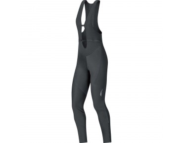 GORE BIKE WEAR ELEMENT WINDSTOPPER soft shell women's bib tights without seat pad black