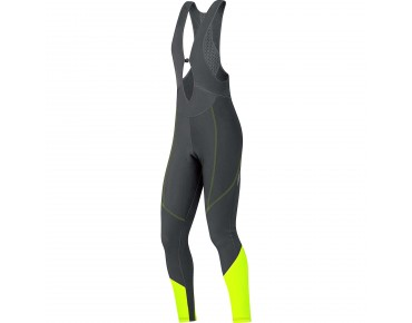 GORE BIKE WEAR ELEMENT women's thermal bib tights black/neon yellow