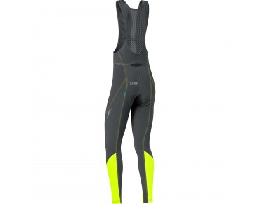 GORE BIKE WEAR ELEMENT Damen-Thermo-Trägerhose black/neon yellow
