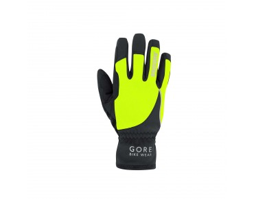 GORE BIKE WEAR POWER WINDSTOPPER SOFT SHELL women's gloves black/neon yellow