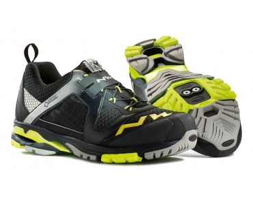 NORTHWAVE EXPLORER GORE-TEX® MTB-/Trekkingschuhe black/yellow fluo
