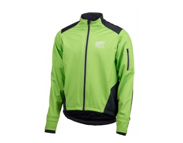 ROSE Rad Jacke WIND FIBRE (Thermo-Windschutz) - MountainBike Kauftipp 1/2015 - green/black