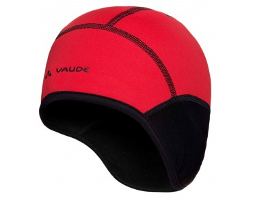 VAUDE BIKE WINDPROOF CAP III helmet cap black/red
