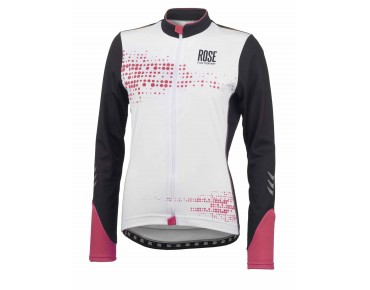 ROSE DOTS Thermo Damen Langarm Trikot black/teaberry