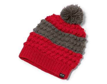 OAKLEY JULIETT POM women's beanie red line