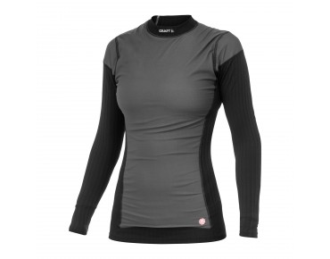 CRAFT WINDSTOPPER ACTIVE EXTREME women's long-sleeved base layer black/platinum