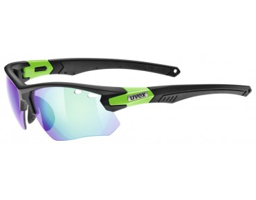 uvex sportstyle 109 glasses black mat green/mirror green